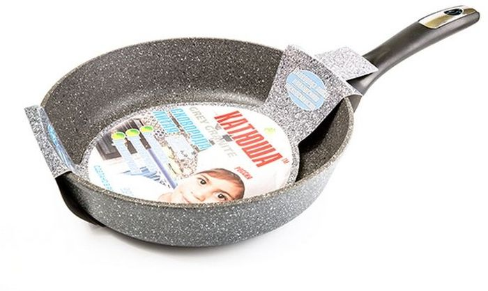 """Сковорода Катюша """"Гранит"""", литая, с антипригарным покрытием. Диаметр 24 см"""