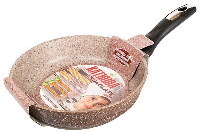 Сковорода Катюша Гранит, литая, с антипригарным покрытием. Диаметр 22 см. 91229122Сковорода а/п литая 22см. Толщина стенок-4мм, толщина дна-6мм