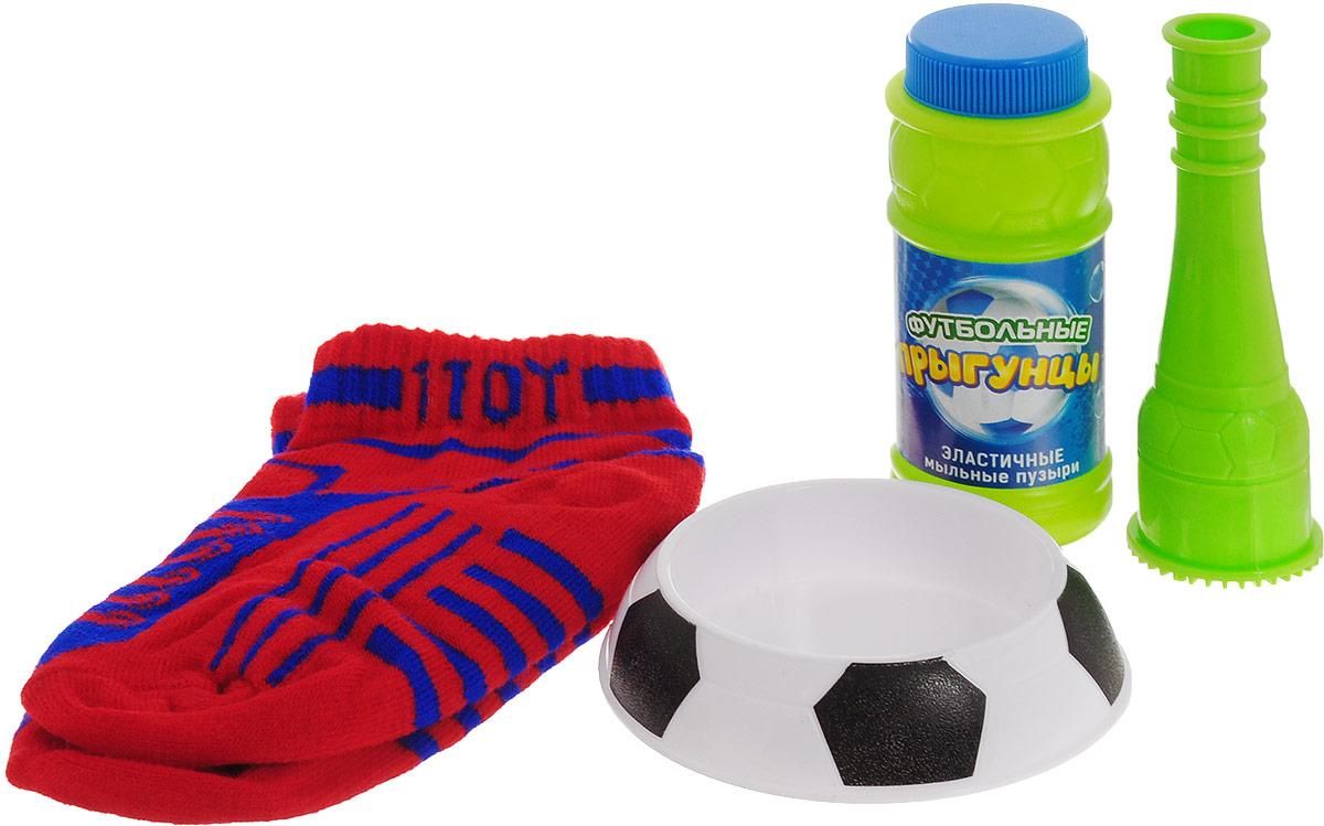 1TOY Мыльные пузыри Футбольные прыгунцы цвет носков красный 80 мл 1toy мыльные пузыри футбольные прыгунцы 80 мл т59276