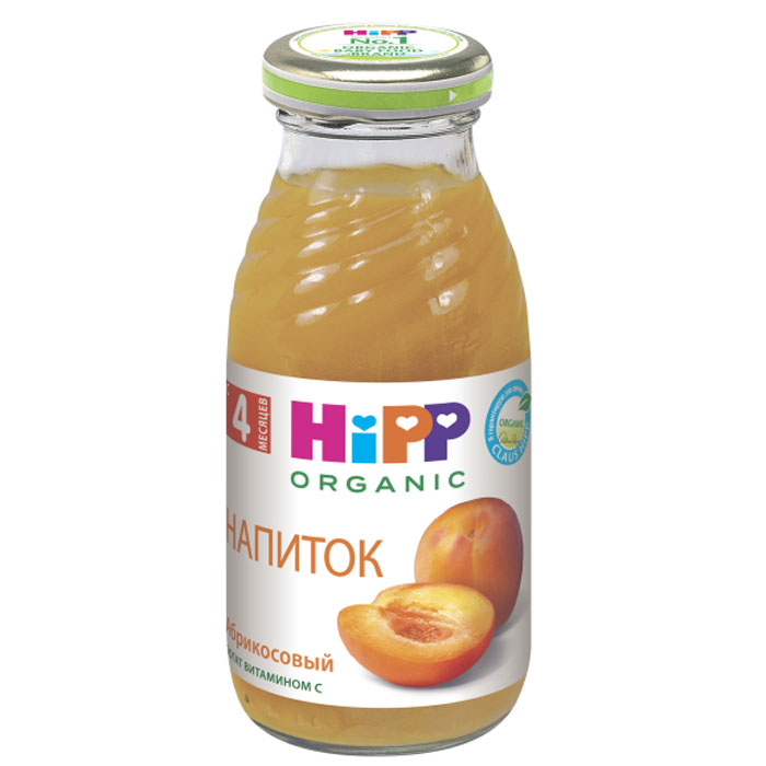 Hipp Напиток абрикосовый, с 4 месяцев, 200 г