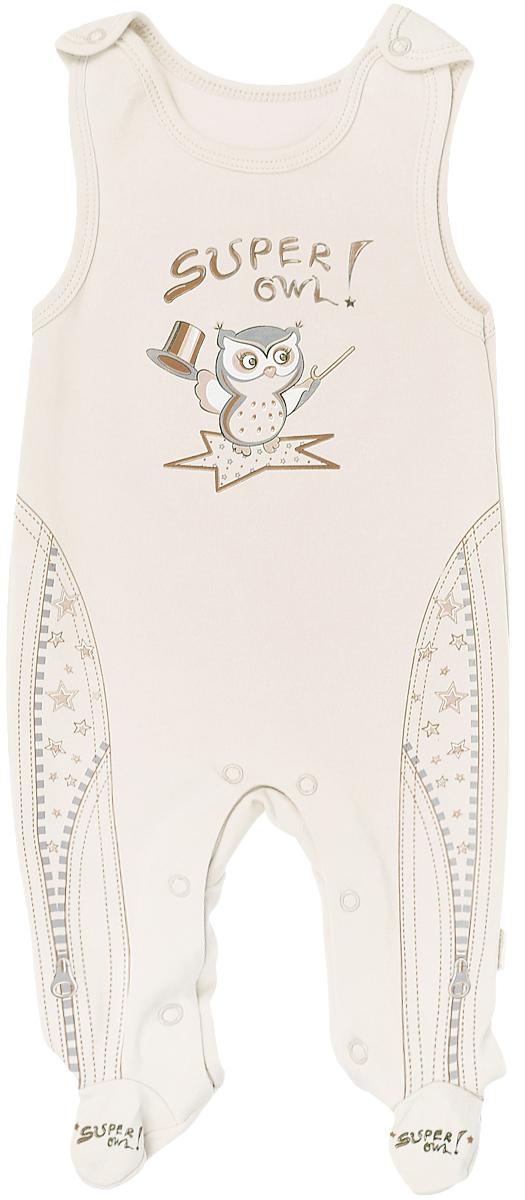Ползунки с грудкой для мальчика СовенокЯ Совята, цвет: бежевый. 2-372 Б. Размер 74 butterfly series plastic back case protective cover for iphone 5 5s