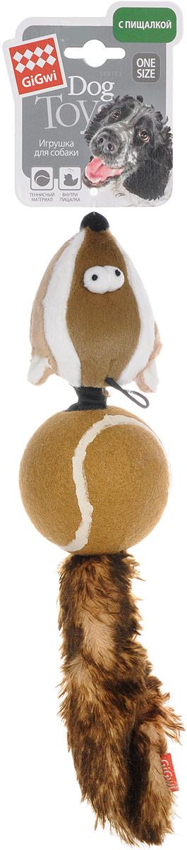 Игрушка для собак GiGwi Барсук, с пищалками, длина 33 см75075Игрушка для собак GiGwi Барсук выполнена из плотной резины. Игрушка подходит для активной игры. Оригинальная игрушка с пищалкой непременно понравится вашему любимцу.