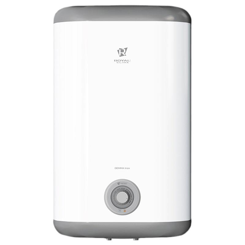 Накопительный водонагреватель Royal Clima RWH-GI50-FS имеет внутреннее покрытие из нержавеющей стали   Goliath 1.2. Высококачественный медный нагревательный элемент повышенного срока службы обеспечивает   высокую скоростью нагрева воды. Заботливый режим iLike предназначен для установки наиболее комфортной   температуры нагрева воды (55 градусов) с соблюдением оптимальных параметров по энергопотреблению.   Эмалевое покрытие бака устойчиво к царапинам и ржавчине. Компактность прибора обеспечивает его легкую   установку в любом помещении.         Как выбрать водонагреватель. Статья OZON Гид