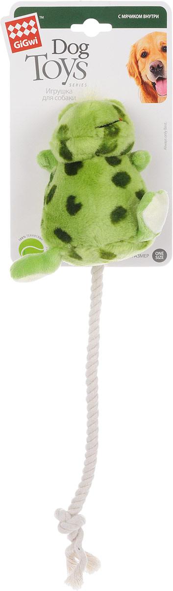 Игрушка для собак GiGwi Лягушка, с мячиком внутри, с пищалкой, длина 12 см. 75062 игрушка для собак gigwi лось с пищалкой 13 см