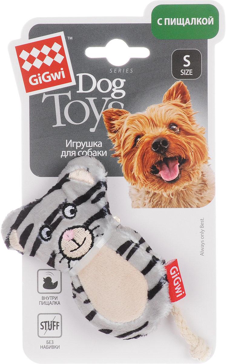 Игрушка для собак GiGwi Кот, с пищалками, длина 8,575024Игрушка для собак GiGwi Кот выполнена из резины и дополнена текстильным покрытием. Игрушка с пищалкой подходит для активной игры.