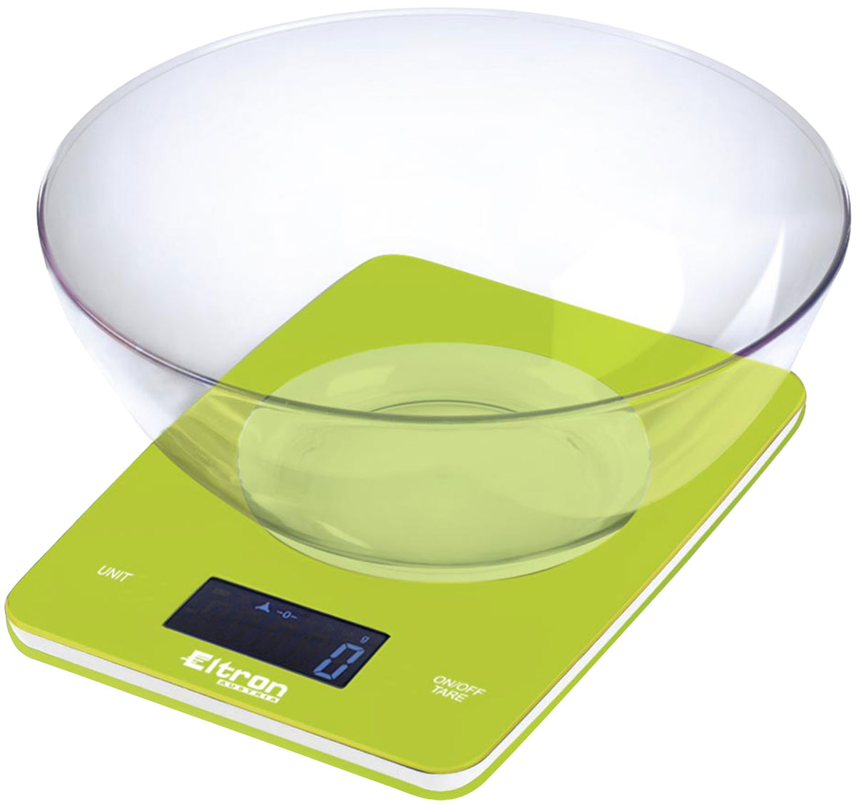 Весы кухонные  Eltron , электронные, цвет: зеленый, до 5 кг. 9263EL - Кухонные весы