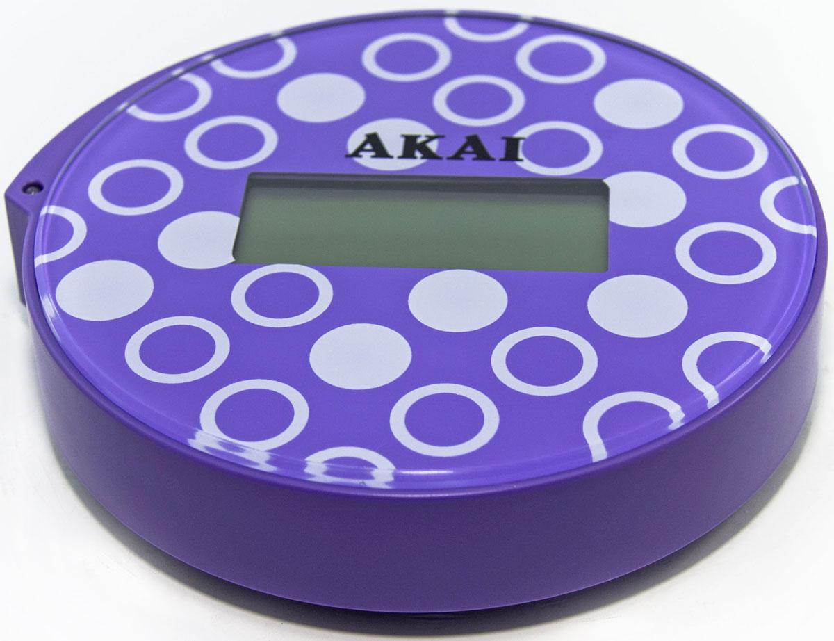 Весы напольные Akai, электронные, цвет: фиолетовый, до 150 кг чайник akai km 1023d