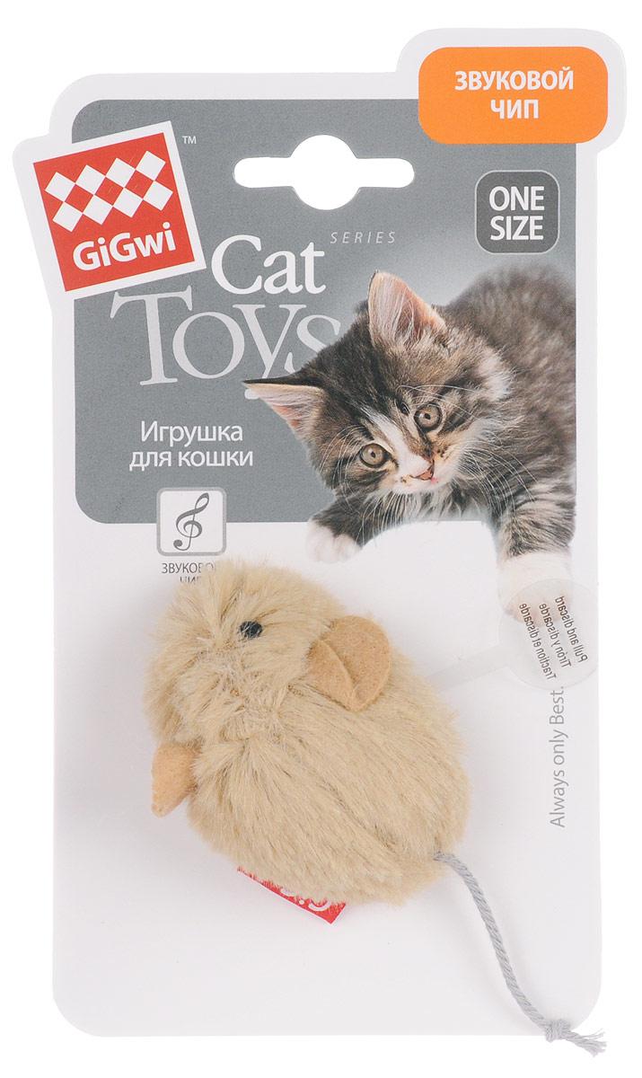 Игрушка для кошек GiGwi Мышка, со звуковым чипом, дина 6,5 см. 75217