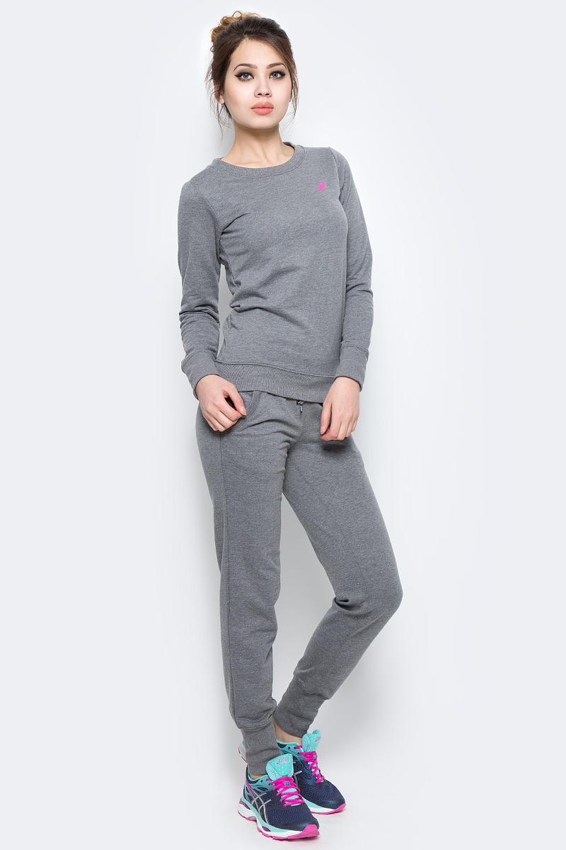 Костюм спортивный женский Asics Sweater Suit, цвет: серый. 142917-0798. Размер S (42/44) костюм спортивный женский asics sweater suit цвет серый 142917 0798 размер s 42 44