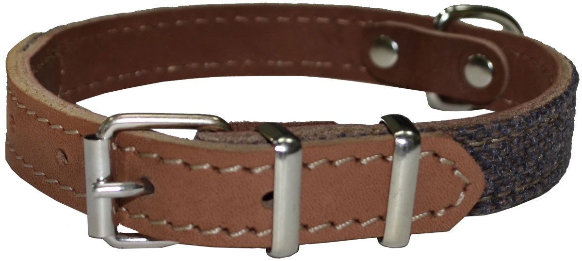 Ошейник Аркон Ричмонд, цвет: коньячный, ширина 16 мм, длина 26-34 см коньячный набор