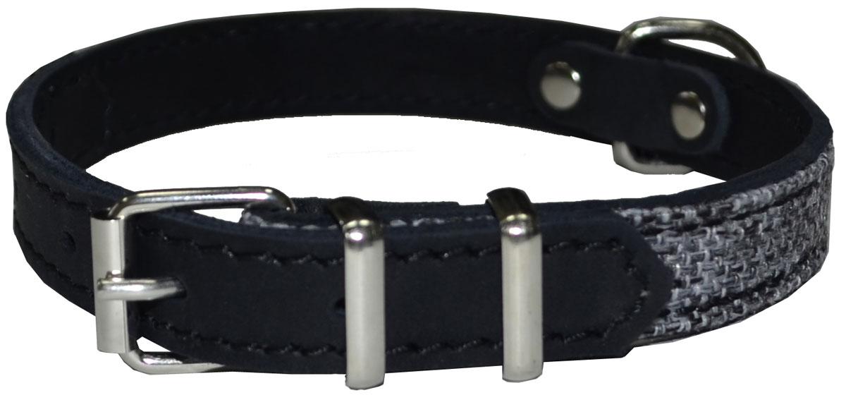 Ошейник для собак Аркон Ричмонд, 16 мм, обхват шеи 26-34 см, цвет: черный ошейник для собак о16п аркон 16