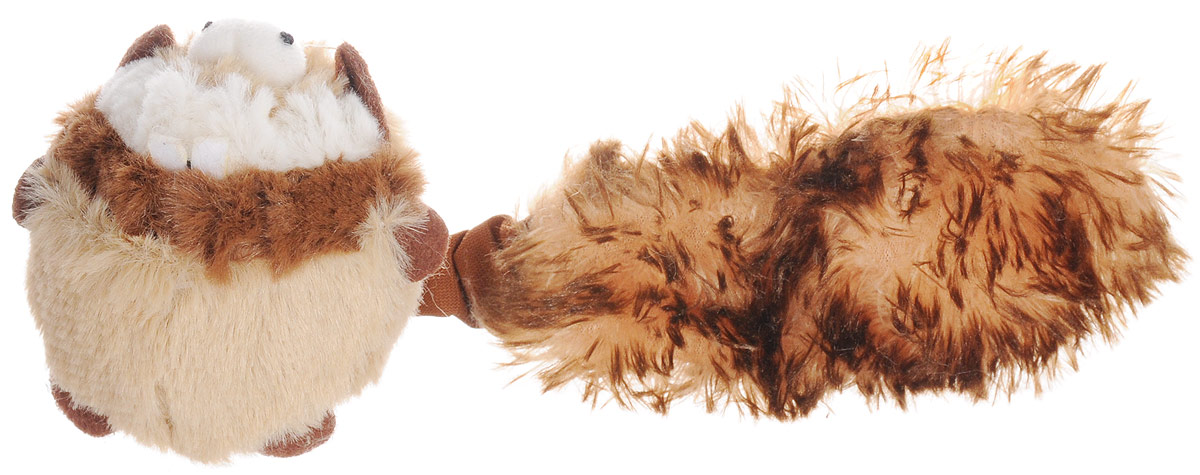 Игрушка для собак GiGwi Барсук, с пищалкой, длина 26 см игрушка gigwi jumball big ball is a good ball мяч с захватом для собак 75367