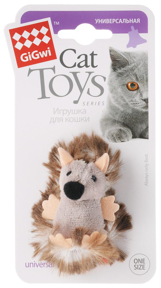 Игрушка для кошек GiGwi Ежик, с погремушкой, длина 7 см электронная игрушка для кошек gigwi pet droid фезер воблер