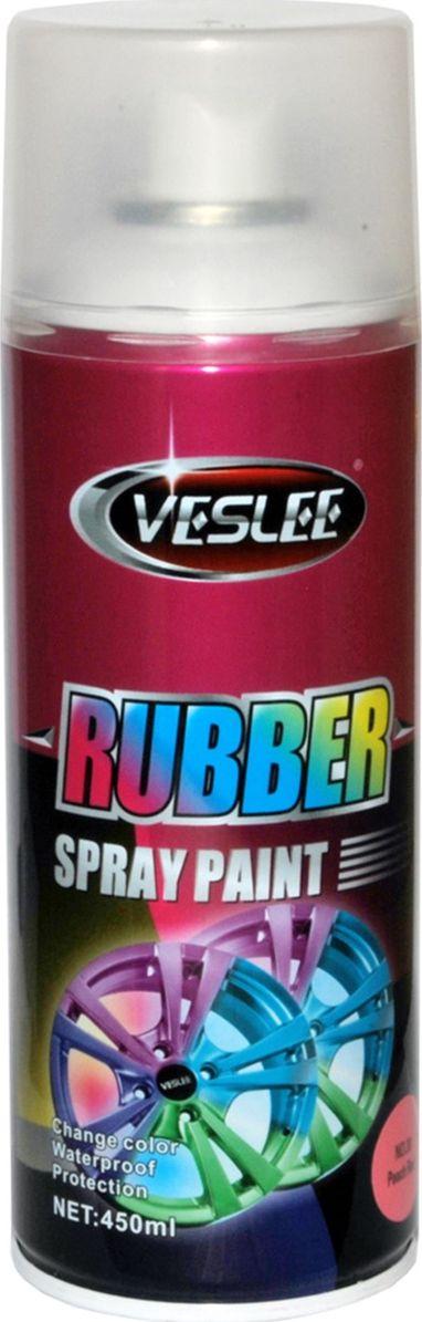 Краска аэрозольная Veslee, резиновая, цвет: розовый (с30), 450 гC30Аэрозольная краска Veslee представляет собой резиновое покрытие, которое после высыхания образует эластичную водоотталкивающую плёнку, защищающую поверхность от повреждений и коррозии. При необходимости просто снимается с поверхности как плёнка, не оставляя следов и не повреждая покрытие. Применяется для окраски автомобильных дисков и других предметов, которые нужно выделить с помощью цвета. Представлена в яркой флуоресцентной цветовой гамме, а также в золотом, прозрачном и матовых вариантах.Резиновая краска — это новый сверхудобный материал широкого применения. Благодаря своим свойствам отлично подходит для:— тюнинга автомобилей мотоциклов и других средств передвижения;— может применяться в интерьере жилых помещений;— гидроизолирует всё, на что наносится;— приятна на ощупь и при особом нанесении можно получить красивую фактуру, что незаменимо для аксессуаров (брелки, телефоны, украшения, флешки и многое другое). Применение ограничивается лишь вашей фантазией.