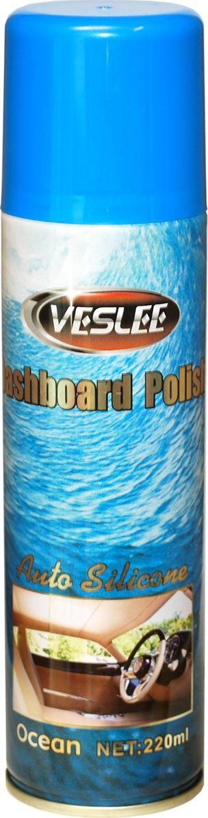 Очиститель-полироль Veslee Океан, с силиконом, аэрозоль, 220 млVL-17EОчиститель-полироль Veslee Океан применяется для ухода за приборной панелью, а также различными пластиковыми, резиновыми и виниловыми элементами салона автомобиля.Удаляет пыль и грязь, пятна и отпечатки пальцев. Образует на поверхности пленку с пылеотталкивающими свойствами, придает поверхности блеск.Защищает от негативного воздействия ультрафиолета и предотвращает появление микротрещин.Обладает свежим ароматом, нейтрализующим неприятные запахи.