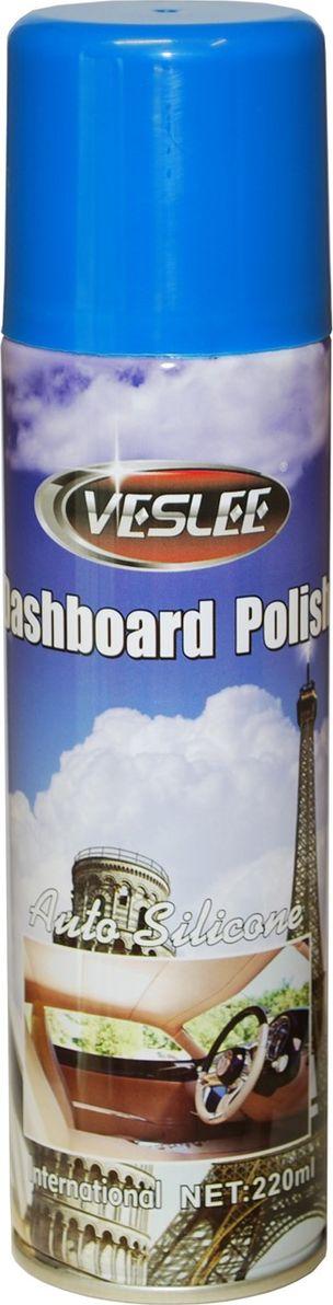Очиститель-полироль Veslee Интернешл, с силиконом, аэрозоль, 220 млVL-17FОчиститель-полироль Veslee Интернешл применяется для ухода за приборной панелью, а также различными пластиковыми, резиновыми и виниловыми элементами салона автомобиля.Удаляет пыль и грязь, пятна и отпечатки пальцев. Образует на поверхности пленку с пылеотталкивающими свойствами, придаёт поверхности блеск.Защищает от негативного воздействия ультрафиолета и предотвращает появление микротрещин.Обладает свежим ароматом, нейтрализующим неприятные запахи.