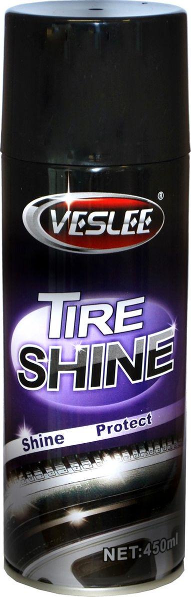Чернитель шин Veslee, аэрозоль, 450 млVL-5CЧернитель шин Veslee легко и быстро очищает покрышки, придает им мокрый блеск и защищает от растрескивания.Проникает в поверхность резины, создавая защитный барьер от неблагоприятных дорожных условий, выцветания и старения.Позволяет восстановить первоначальный вид шин, не запачкав рук, так как не требует растирания. Нужно просто распылить аэрозоль на поверхность шин и подождать несколько минут.