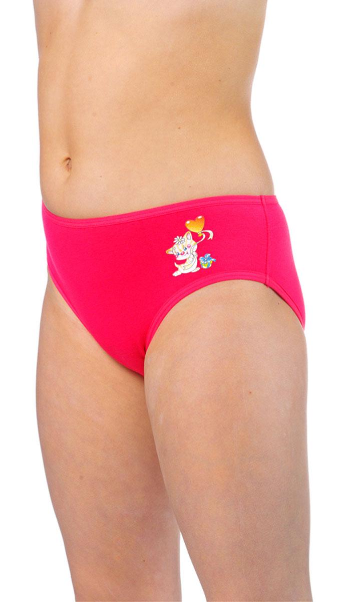 Трусы для девочки Lowry, цвет: красный, розовый, 2 шт. GP-296. Размер S (98/104) трусы lowry трусы 3 шт