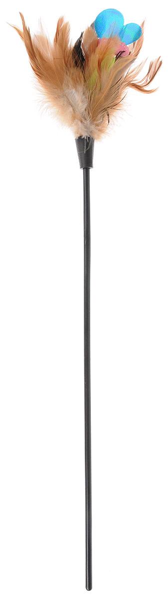 Игрушка для кошек GiGwi Дразнилка с бабочкой, 51 х 2 х 2 см