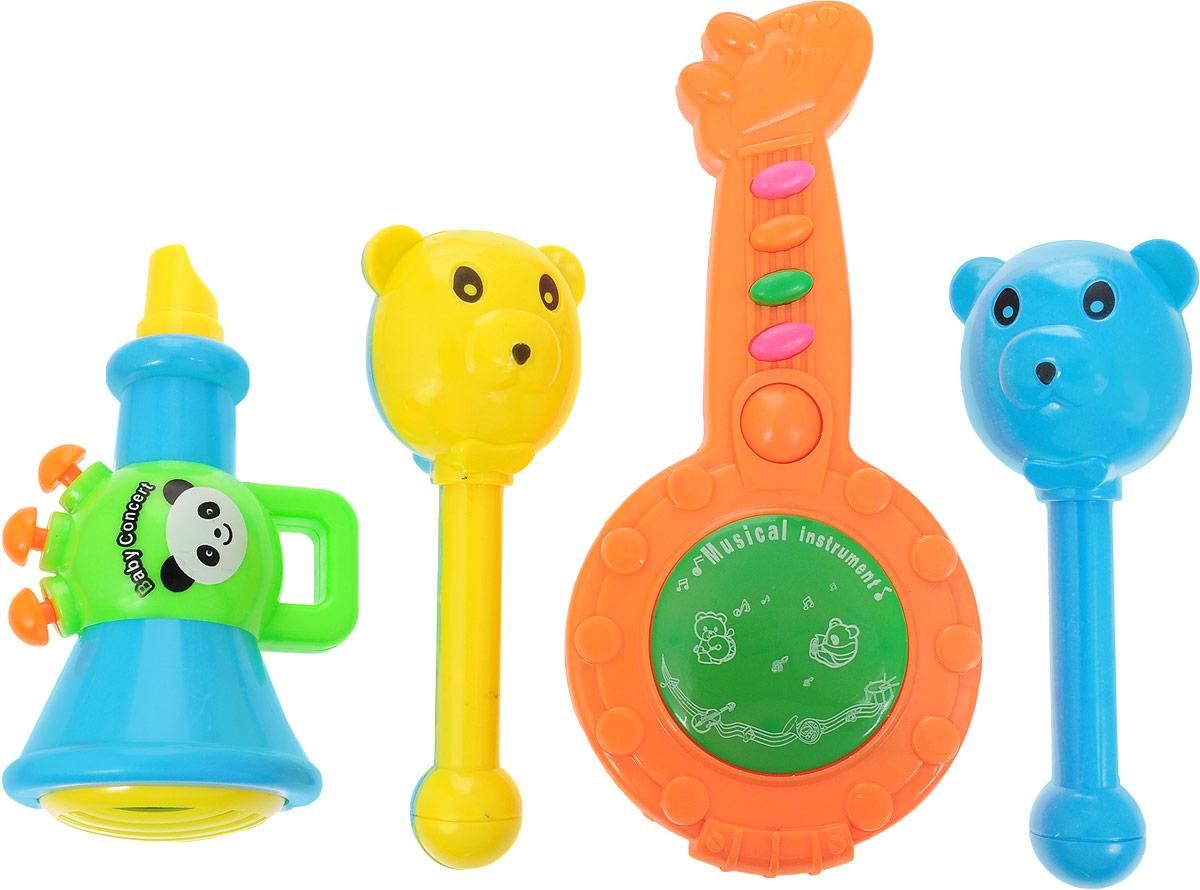 Best'ценник Набор музыкальных инструментов 4 предмета набор инструментов 1toy пингвинёнок пороро 7 пр