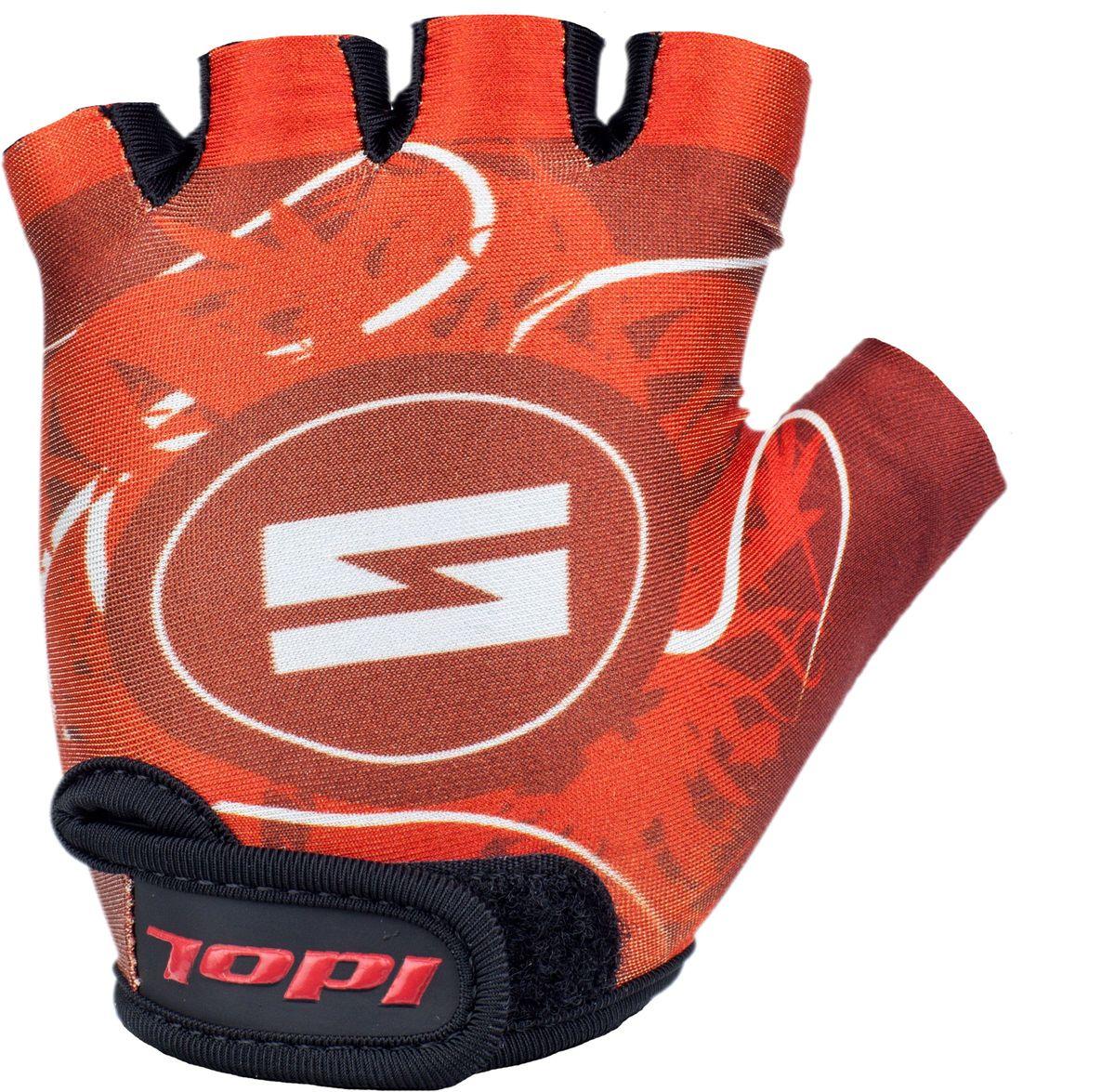 Перчатки велосипедные для мальчика Idol Guron, цвет: красный. Размер 8-13 лет