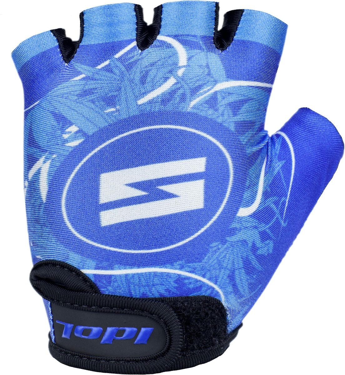 Перчатки велосипедные для мальчика Idol Guron, цвет: синий. Размер 8-13 лет