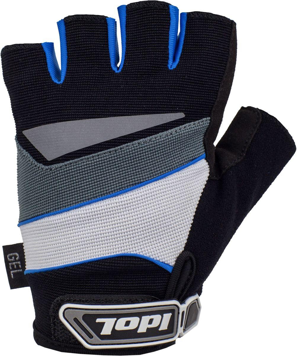 Перчатки велосипедные Idol Lech, цвет: черный, синий. Размер S2703Велосипедные перчатки с открытыми пальцами Idol LECH предназначены для велоспорта, велотуризма, велосипедных прогулок. Верх выполнен из высококачественного эластичного материала 4-way stretch, который отличается повышенной воздухопроницаемостью. Ладонь изготовлена из синтетической кожи Amara и дополнена гелевой вставкой для большего комфорта. Большой палец перчатки отделан влагоотводящим материалом. Светоотражающий элемент на тыльной стороне кисти. Двойной шов в критических местах обеспечивает дополнительную износоустойчивость. На запястьях перчатки фиксируются прочными липучками. Для удобства снятия каждая перчатка оснащена двумя небольшими петельками.Высокое качество, технически совершенные материалы, оригинальный стильный дизайн, функциональность и долговечность выделяют велоперчатки Idol среди прочих.