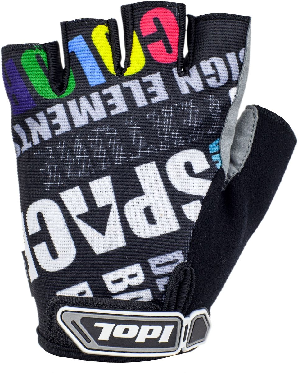 Перчатки велосипедные Idol Ramsau. Размер M2712Велосипедные перчатки с открытыми пальцами Idol RAMSAU предназначены для велоспорта, велотуризма, велосипедных прогулок. Верх выполнен из высококачественного эластичного материала 4-way stretch, который отличается повышенной воздухопроницаемостью. Ладонь изготовлена из синтетической кожи Amara и дополнена гелевой вставкой для большего комфорта. Большой палец перчатки отделан влагоотводящим материалом. На запястьях перчатки фиксируются прочными липучками. Для удобства снятия каждая перчатка оснащена двумя небольшими петельками.Высокое качество, технически совершенные материалы, оригинальный стильный дизайн, функциональность и долговечность выделяют велоперчатки Idol среди прочих.