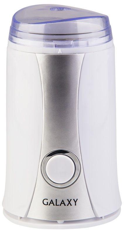 Galaxy GL 0905, White кофемолка4650067302621Galaxy GL 0905 - кофемолка в эргономичном корпусе для быстрого и качественного помола кофейных зерен, которая не займет много места на кухне. Мощность 250 Вт позволит данной модели перемолоть 65 грамм зерен за раз. Она позволит вам наслаждаться вкусным и бодрящим напитком каждое утро и с легкостью готовить сахарную пудру для десертов.Нож из нержавеющей сталиКонтейнер из нержавеющей сталиИмпульсный режим работыЗащита от непроизвольного пуска