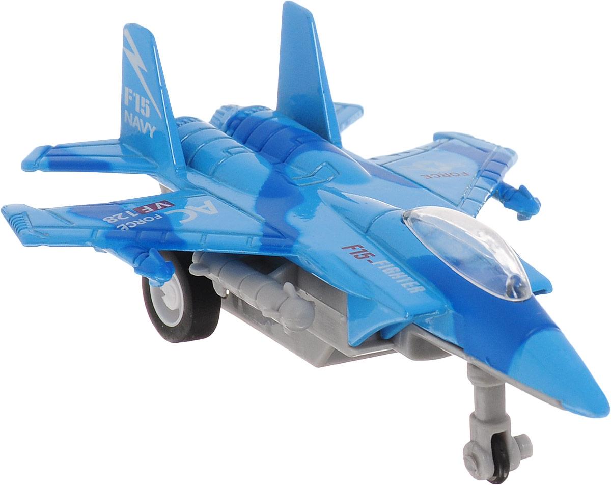 Big Motors Военный истребитель инерционный цвет синий
