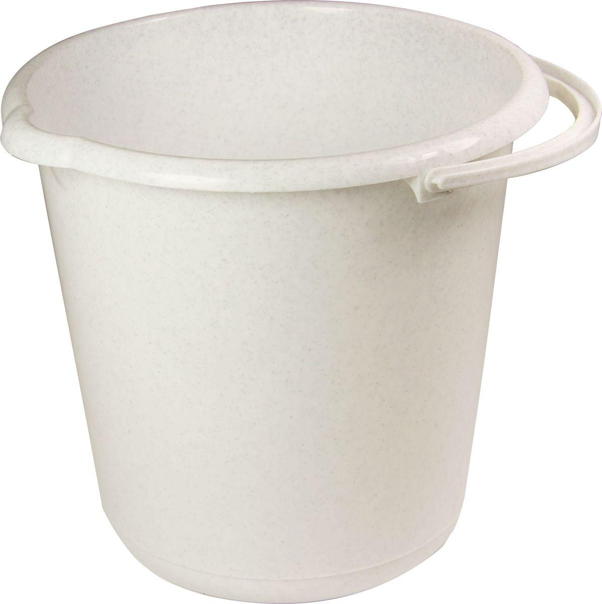 Ведро хозяйственное Idea, цвет: мраморный, 3 л ведро хозяйственное idea цвет аквамарин 3 л м 2428