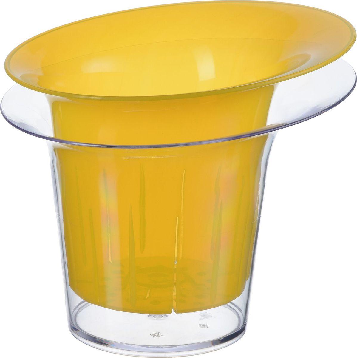 Кашпо для орхидеи Idea Адель, цвет: желтый прозрачный, 1 л. М 3104 кашпо gift n home сирень