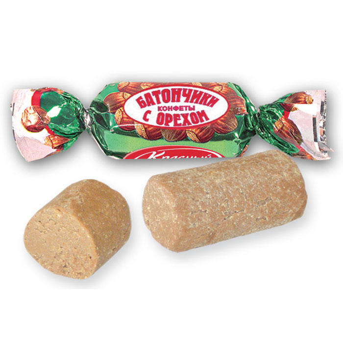 купить Красный Октябрь конфеты батончики с орехом, 250 г по цене 80 рублей