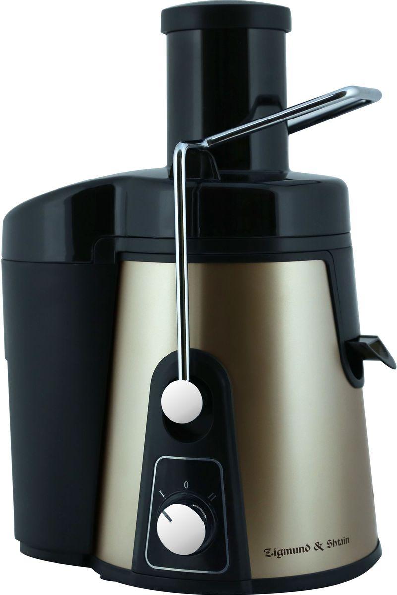 Zigmund & Shtain EJ-750 соковыжималкаEJ-750Покупая соковыжималку Zigmund & Shtain EJ-750, вы получаете возможность пить домашний сок в любое время года. Благодаря широкой загрузочной горловине 75 мм и хорошему показателю мощности 1000 Вт, вы с легкостью за короткое время получите натуральный напиток, который обогатит ваш организм полезными веществами. Прибор поддерживает две скорости отжима, что позволяет выжимать сок различной консистенции. Весь жмых во время работы собирается во вместительной емкости, которую удобно мыть.Для защиты во время использования предусмотрено автовыключение двигателя при перегреве устройства. Прорезиненные ножки гарантируют полную устойчивость прибора во время работы. Порадуйте себя и своих близких натуральным соком, приготовленным с помощью Zigmund & Shtain EJ-750!