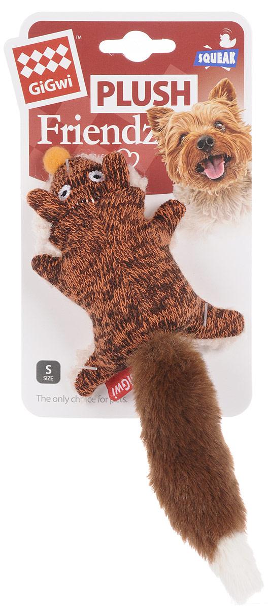 Игрушка для собак GiGwi Лиса, с пищалкой, длина 9 см игрушка для собак gigwi мячи с пищалкой диаметр 4 см 3 шт 75340