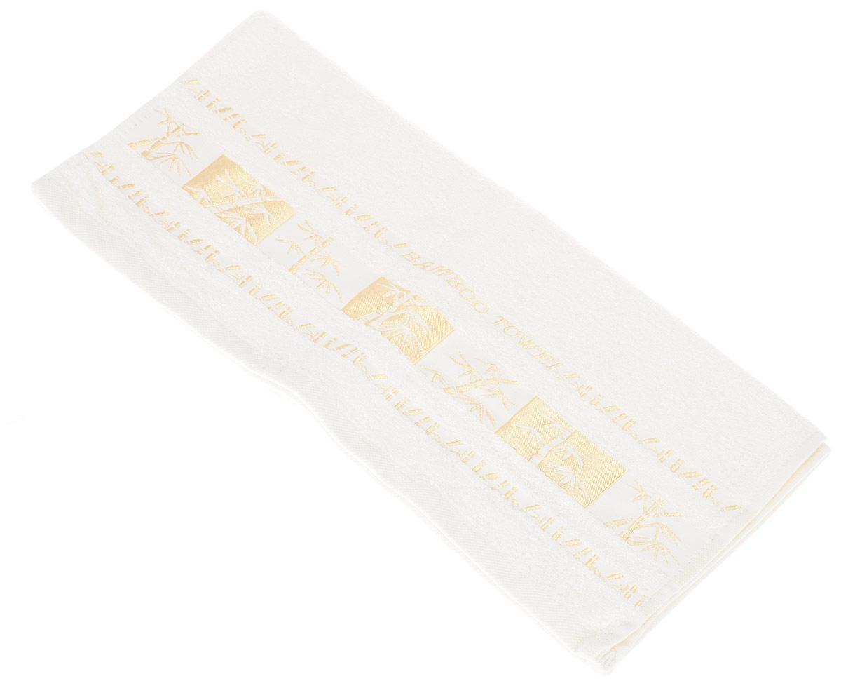 Полотенце Brielle Bamboo Gold, цвет: кремовый, 50 х 90 см1212Полотенце Brielle Bamboo Gold выполнено из бамбука с содержанием хлопка. Изделие очень мягкое, оно отлично впитывает влагу, быстро сохнет, сохраняет яркость цвета и не теряет формы даже после многократных стирок. Одна из боковых сторон оформлена оригинальным рисунком и надписью. Полотенце Brielle Bamboo Gold очень практично и неприхотливо в уходе. Такое полотенце послужит приятным подарком.