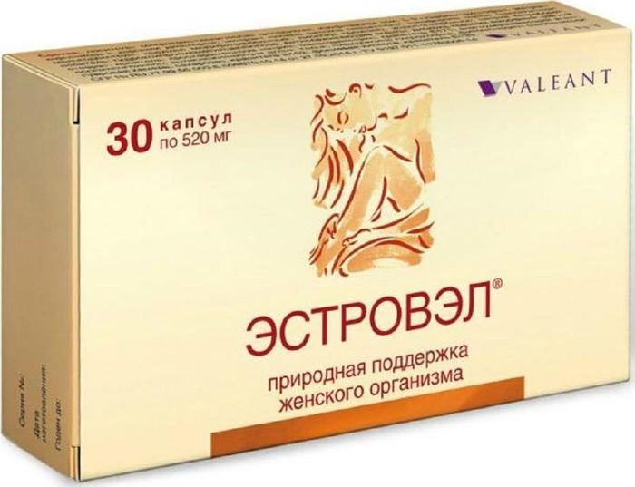 Эстровэл, 30 капсулы х 520 мг30698Эстровэл - природная поддержка женского организма, используется для облегчения симптомов климакса, оказывает положительное воздействие на вегетативную нервную систему, устраняя приступы приливов, потливости, сердцебиения и головокружения, смягчает симптомы, связанные с дисбалансом гормонов. Изофлавоны сои называют фитоэстрогенами. Это вещества растительного происхождения, по биологическому действию близкие к эстрогену, обладающие эстрогеноподобным действием при недостатке собственных гормонов, и компенсирующие негативные эффекты эстрогена при его избытке. Применение изофлавонов способствует снижению частоты приливов, потливости, головных болей, и других симптомов, наблюдающихся в климактерическом периоде. Также изофлавоны помогают регулировать гормональный дисбаланс при предменструальном синдроме (ПМС), стимулируют процессы обновления костной ткани, способствуют ее укреплению и восстановлению. Изофлавоны обладают антиоксидантными, противовоспалительными, жаропонижающими свойствами, а также подавляют образование тромбина и агрегацию тромбоцитов, тем самым, способствуя профилактике сердечно- сосудистых заболеваний. Экстракт дикого ямса содержит вещества - предшественники прогестерона и некоторых других гормонов. Диоскорея нормализует состояние, вызванное дисбалансом гормонов при ПМС и в климактерическом периоде. Дикий ямс препятствует развитию атеросклероза, оказывает спазмолитическое действие и обладает вазодилатирующим эффектом. Индол-3-карбинол в эксперименте подавляет вирусы Herpes simplex и вирус папилломы человека, способствует нормализации метаболизма эстрогенов, блокирует пути стимуляции патологической пролиферации (гиперпластические процессы в эндометрии, миома матки, эндометриоз). Применение индол-3-карбинола способствует нормализации гормонального баланса и снижению риска возникновения опухолей. Витамин К играет важную роль в формировании и восстановлении костей, обеспечивая синтез остеокальцина – белка костной ткани, тем с