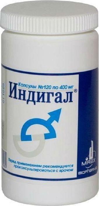 БАД Индигал, капсулы 400 мг, №12036440Применяется в качестве БАД - дополнительного источника природных антиоксидантов - индол-3-карбинола и катехинов (эпигаллокатехин-3-галлата).Индигал – препарат категории биологически активных добавок, используемый для поддержания здоровья предстательной железы. Эффект обусловлен снижением чувствительности андрогеновых рецепторов. Не снижает уровень мужских половых гормонов крови, не подавляет их секреции, поэтому не оказывает негативного влияния на половую функцию мужчины.Предотвращает рост сосудов в опухолевой ткани, тем самым лишая ее питания и угнетая ее рост. Обладает антиоксидантным действием. Сфера применения: акушерство и гинекология, противовоспалительное.
