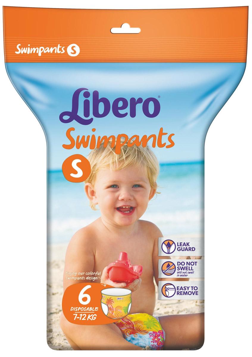 Libero Трусики-подгузники для плавания Swimpants Small (7-12 кг) 6 шт подгузники goo n трусики 12 20кг 38шт для девочек 4902011751413