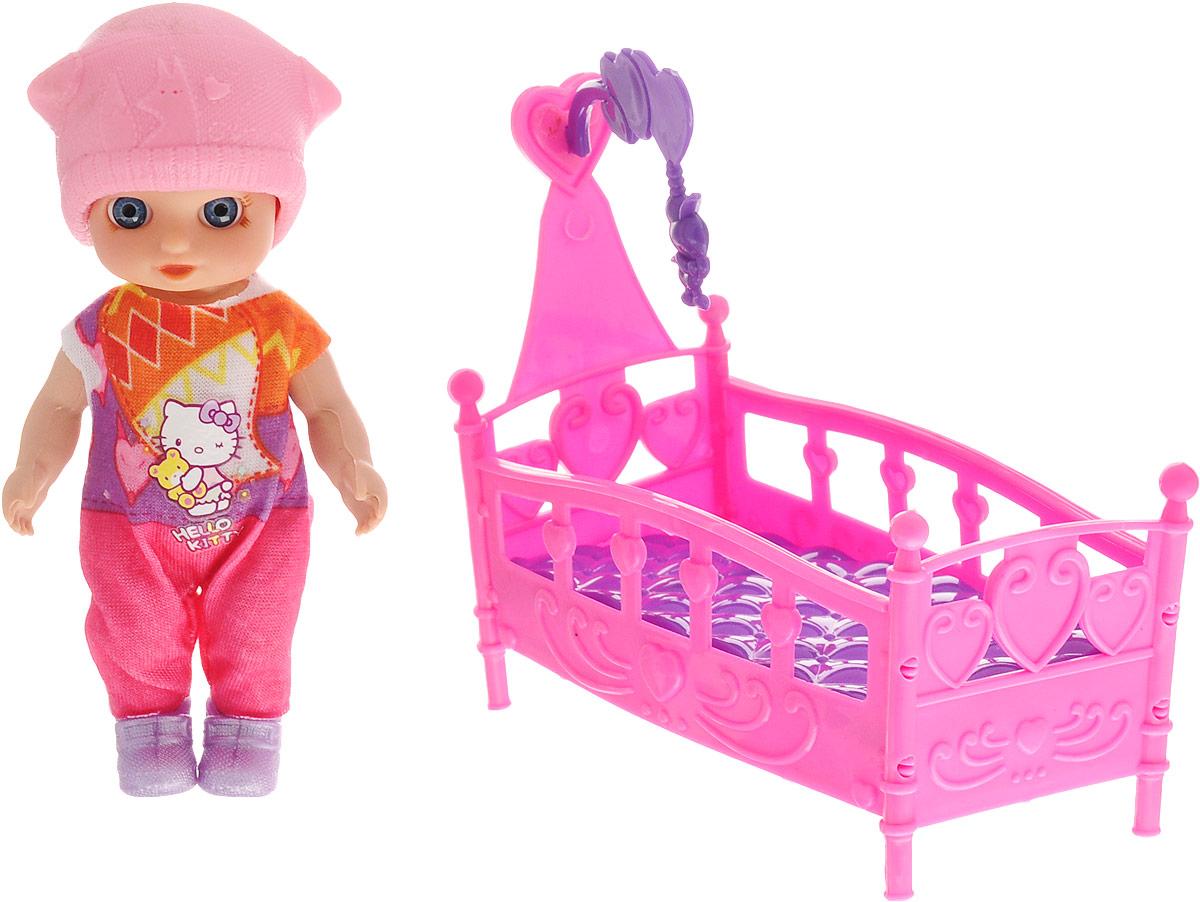 Карапуз Мини-кукла Моя подружка Машенька Сладкие сны цвет шапки розовый куклы карапуз кукла модная подружка