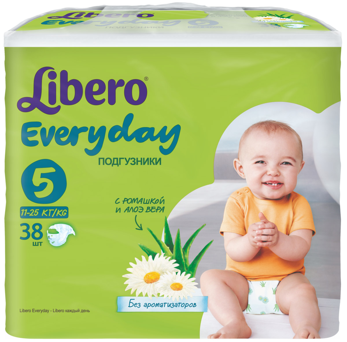 Libero Подгузники Everyday Size 5 (11-25 кг) 38 шт libero подгузники everyday size 5 11 25 кг 38 шт