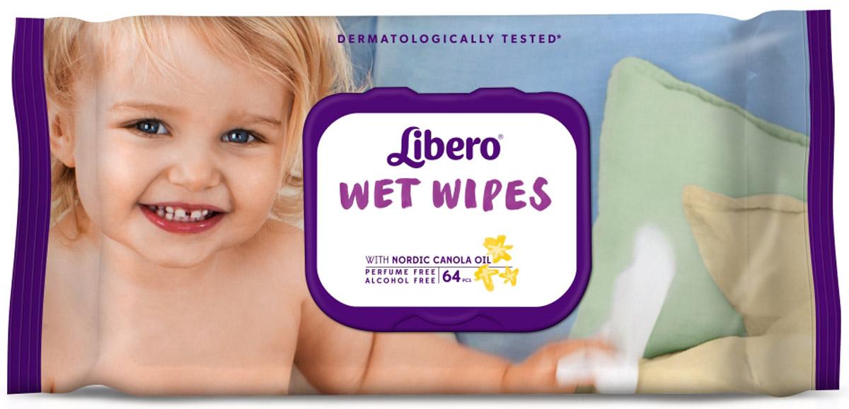 Libero Влажные салфетки Wet Wipes сменный блок 64 шт vs гель лак для ногтей nail polish gel gel laque nail atelier тон shade 144