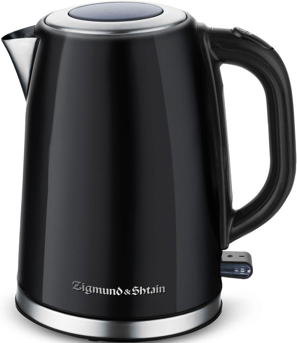 Zigmund & Shtain KE-718 электрический чайникKE-718Мощность электрического чайника составляет 2200 Вт, благодаря чему вода достаточно быстро вскипает. Корпус изготовлен из нержавеющей стали, которая известна прочностью и долгим сроком эксплуатации.Для комфортного использования чайник оснащен удобной ручкой, а также специальным механизмом плавного поднятия крышки Soft-Lift.Наслаждайтесь любимыми горячими напитками вместе с Zigmund & Shtain KE-718!