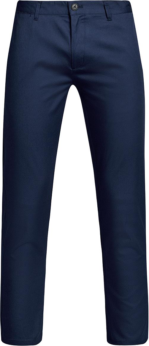 Брюки мужские oodji Lab, цвет: синий. 2L200168M/23421N/7500N. Размер 46-182 (54-182)