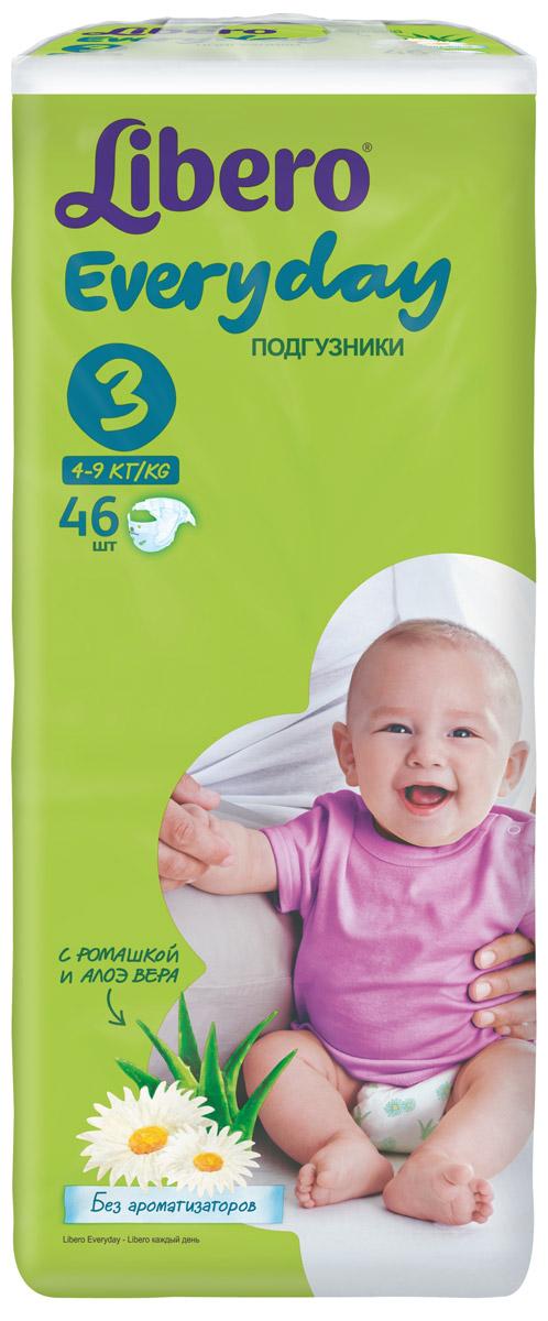 Libero Подгузники Everyday Size 3 (4-9 кг) 46 шт libero comfort 3 4 9 22