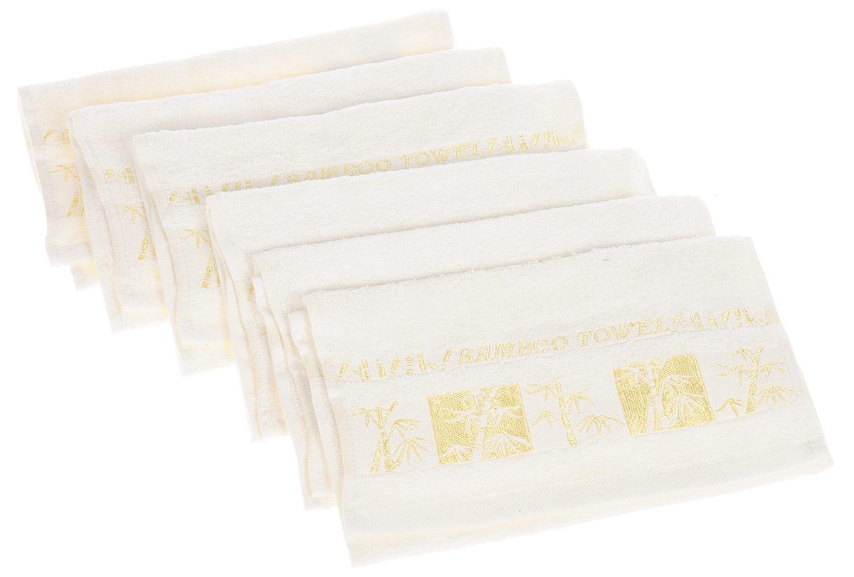Набор полотенец Brielle Bamboo Gold, цвет: кремовый, 30 х 50 см, 6 шт1211Набор Brielle Bamboo Gold состоит из шести полотенец, выполненных на 70% из бамбука и на 30% из хлопка. Изделия отлично впитывают влагу, быстро сохнут, сохраняют яркость цвета и не теряют формы даже после многократных стирок. Полотенца Brielle Bamboo Gold очень практичны и неприхотливы в уходе. Такой набор послужит приятным подарком.