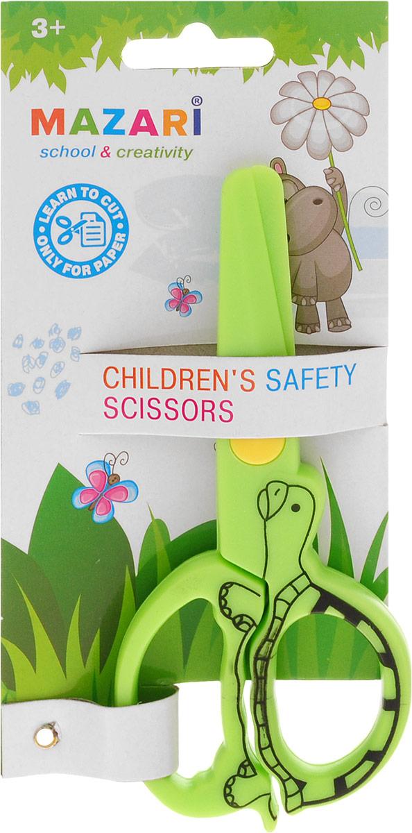 Mazari Ножницы детские цвет салатовый 12 см ножницы канцелярские scotch ножницы scotch precision для точной резки 20 см