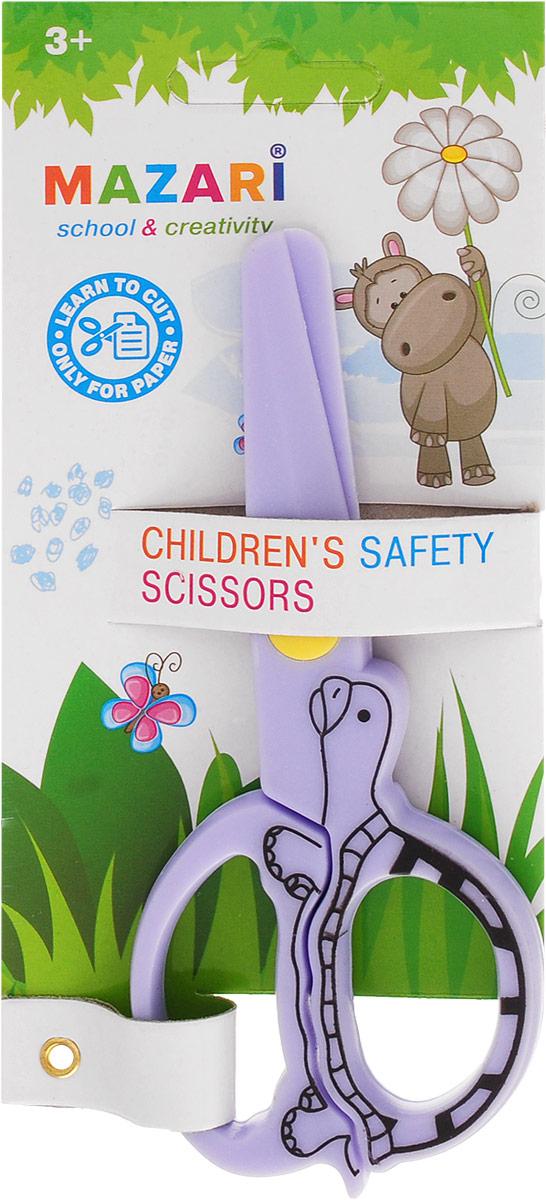 Mazari Ножницы детские цвет сиреневый 12 смМ-5626_сиреневыйДетские ножницы Mazari выполнены из 100% пластика. Они станут прекрасным помощником для ваших детей!Изделие выполнено в ярком цвете. Ножницы предназначаются для резки бумаги.