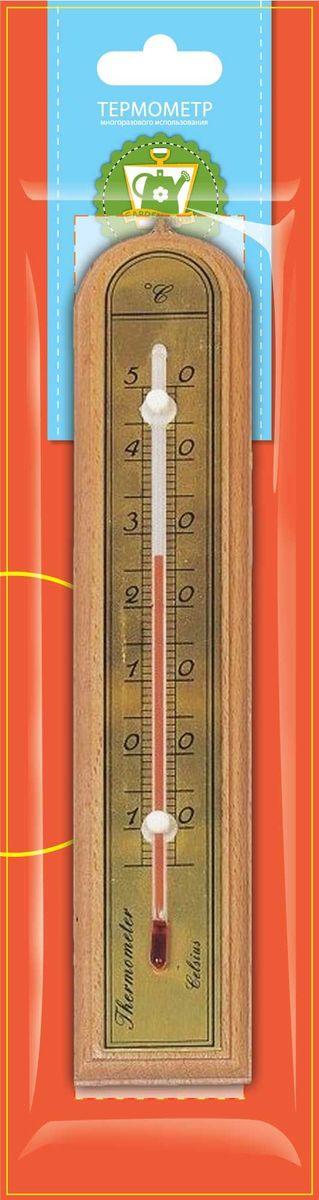 Термометр комнатный Garden Show, цвет: светлое дерево, 5 х 26,2 см466104Термометр комнатный Garden Show предназначен для измерения температуры воздуха в помещении. Термометр выполнен из дерева, снабжен металлической шкалой и стеклянной колбой. Изделие имеет широкий рабочий диапазон температур - от -10 до +50°С со шкалой деления в 10°С. Цена деления составляет 1°С. Изделие снабжено специальным отверстием для крепления. Не содержит ртути. Рекомендуется устанавливать термометр в любом удобном для вас месте на уровне глаз, вдали от отопительных приборов, прямых солнечных лучей, кондиционеров и сквозняков, вблизи того места, где требуется выяснить температуру окружающего воздуха.