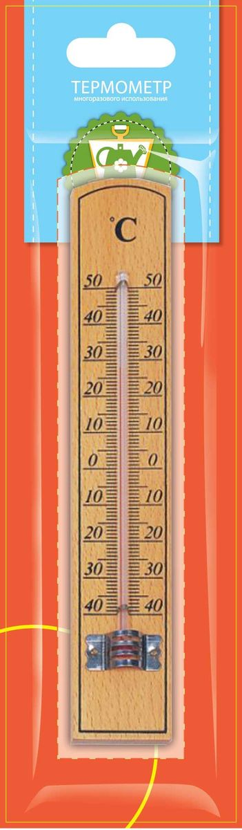 Термометр универсальный Garden Show, 3,5 х 22 см466108Термометр Garden Show предназначен для измерения температуры воздуха на дома или улице. Деревянный корпус отличается прочностью и устойчивостью к любым погодным условиям. Изделие имеет широкий рабочий диапазон температур от -40 до +50°С со шкалой деления в 10°С. Цена деления составляет 1°С. Термометр снабжен специальными отверстиями для крепления.